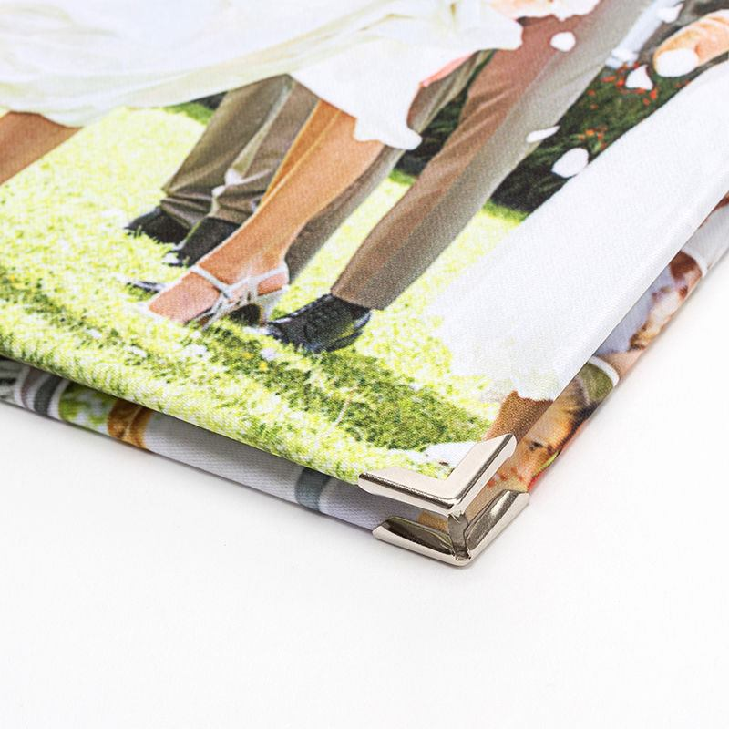 Fabric Cover Guest Book : Personalised guest books custom visitor for