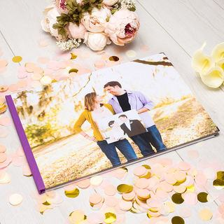personalised visitors book for wedding reception