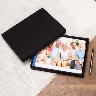 Gästebuch mit personalisierbarem Deckel, Box