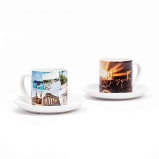 custom printed photo tea cup and saucer