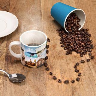Juego taza de cafe personalizada collage