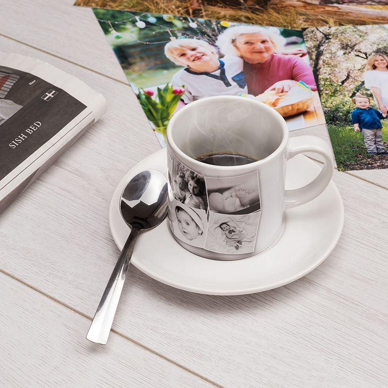 tasse photo tasse personnalis e avec photo et soucoupe. Black Bedroom Furniture Sets. Home Design Ideas