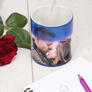 personalised heat change mug