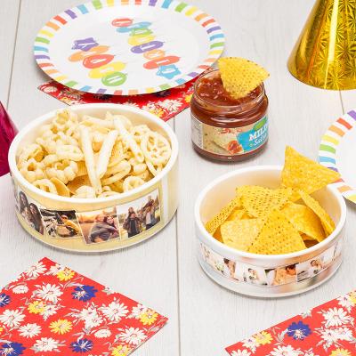 bol de comida personalizado para fiestas