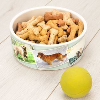 Dog Bowl printed with your photos