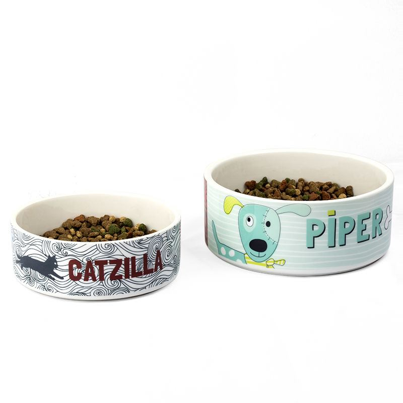 Personalised Cat Or Dog Pet Bowl With Name Photo Or Art