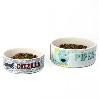 Dog and cat photo printed bowls size comparison
