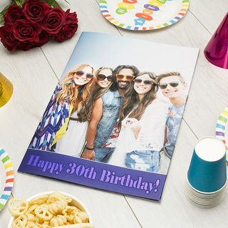 giant birthday card