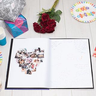 Photo montage heart card with messages