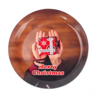 Merry christmas photo coaster tray