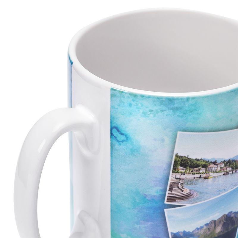 Gepersonaliseerde koffiemok met afbeelding en tekst fotomok - Gepersonaliseerde keuken ...