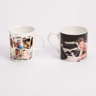 Personalised fine bone china mugs