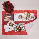 geschirrtuch mit weihnachts foto collage