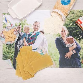 Personalised Printed Family photo tea towel