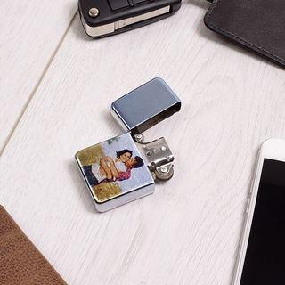 accendino personalizzato in metallo con foto