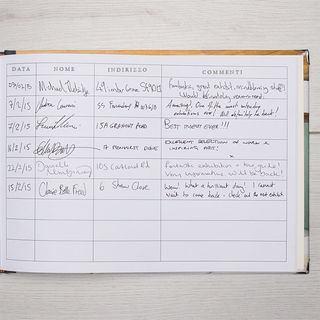 pagine libro degli ospiti