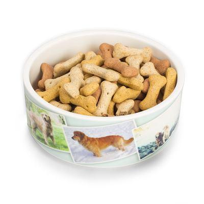 Djur matskålar med eget tryck