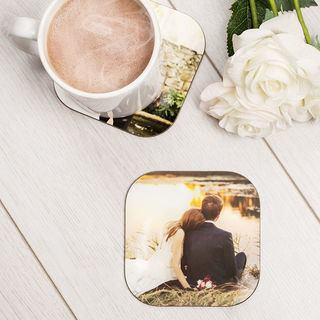 Dessous de verre photo de mariage
