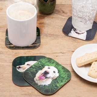 design your own dog coaster photos UK