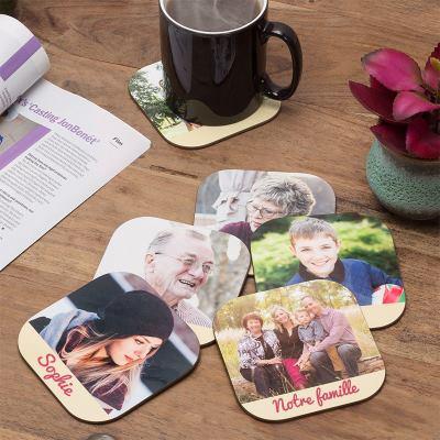 Dessous de verre personnalisés pour fête des grands-mères