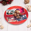 Petite assiette en céramique avec photos