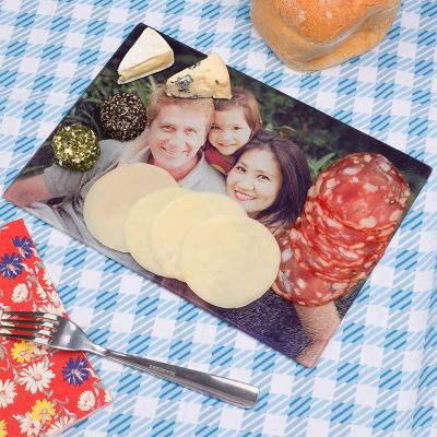 printed glass chopping board