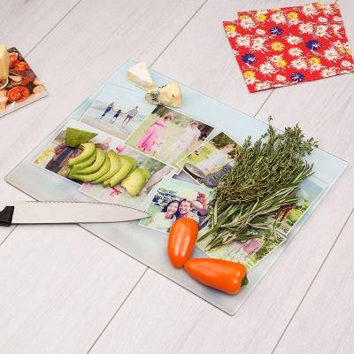 tablas de cortar de cristal con foto