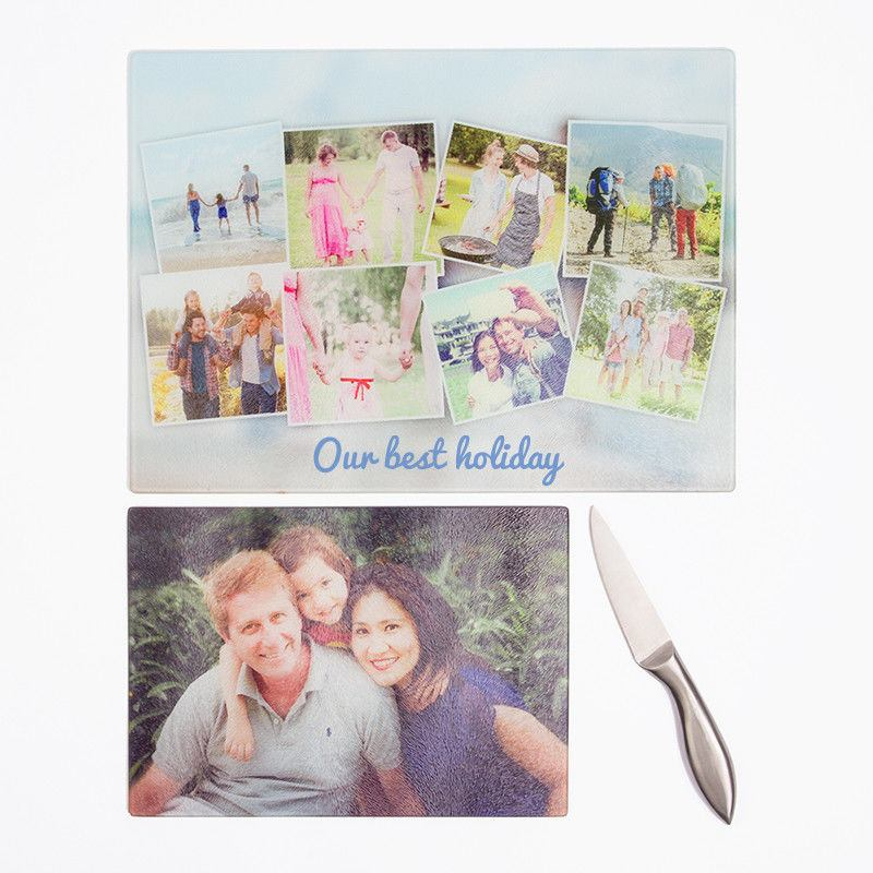 ... Glass Photo Chopping Board ...