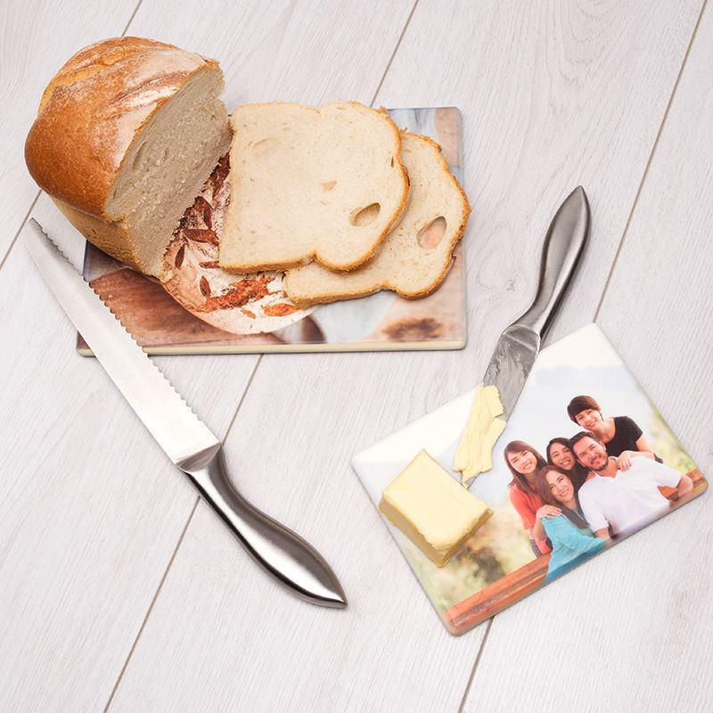 Gepersonaliseerde snijplank met foto en afbeeldingen - Gepersonaliseerde keuken ...