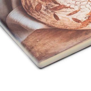 Bread board corner print material