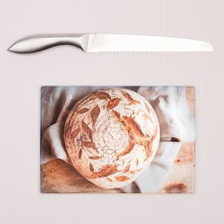 Printed Bread Board and Knife