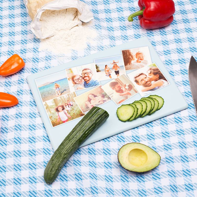 Personalised Chopping Board with cucumber and tomato