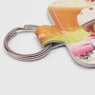 Porte-clés photo famille anneau