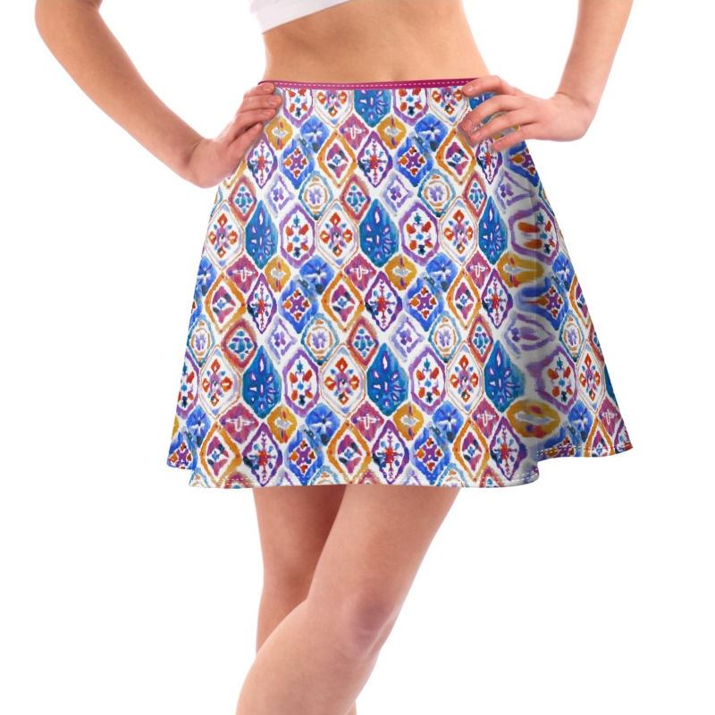 Printed Skirts Made With Your Designs Custom Skater Skirts