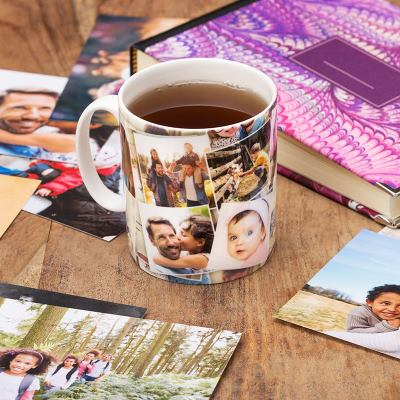 taza con collage de fotos