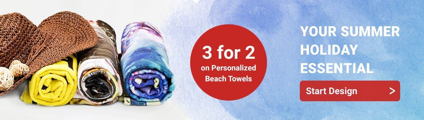 Personalized Beach Towel Banner