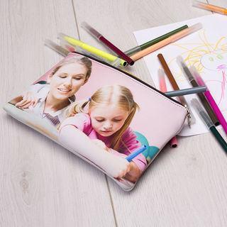 Trousse à crayons personnalisée avec photo maman