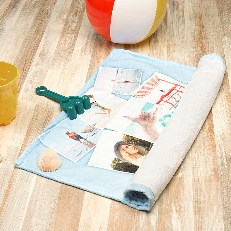 Custom printed beach towel