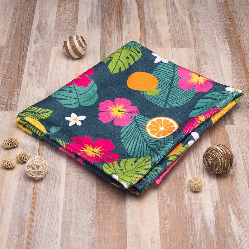 花柄デザイン 印刷 バスタオル