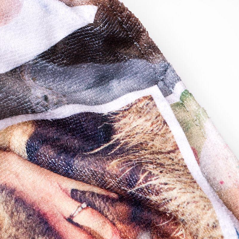 ... Collage Strandtuch Selbst Gestalten   Detailbild ...