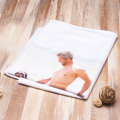 personalised exercise towel for him