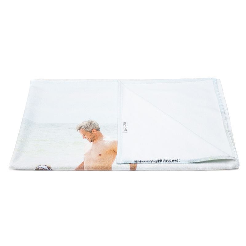 Personalised bath towels custom bathroom towels with photos bags of love Design your own bathroom uk