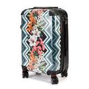 koffer bedruckt mit blumen grafik