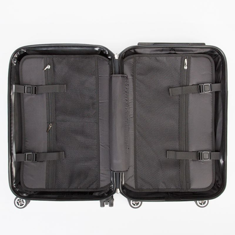 Interior of suitcase travel carry on