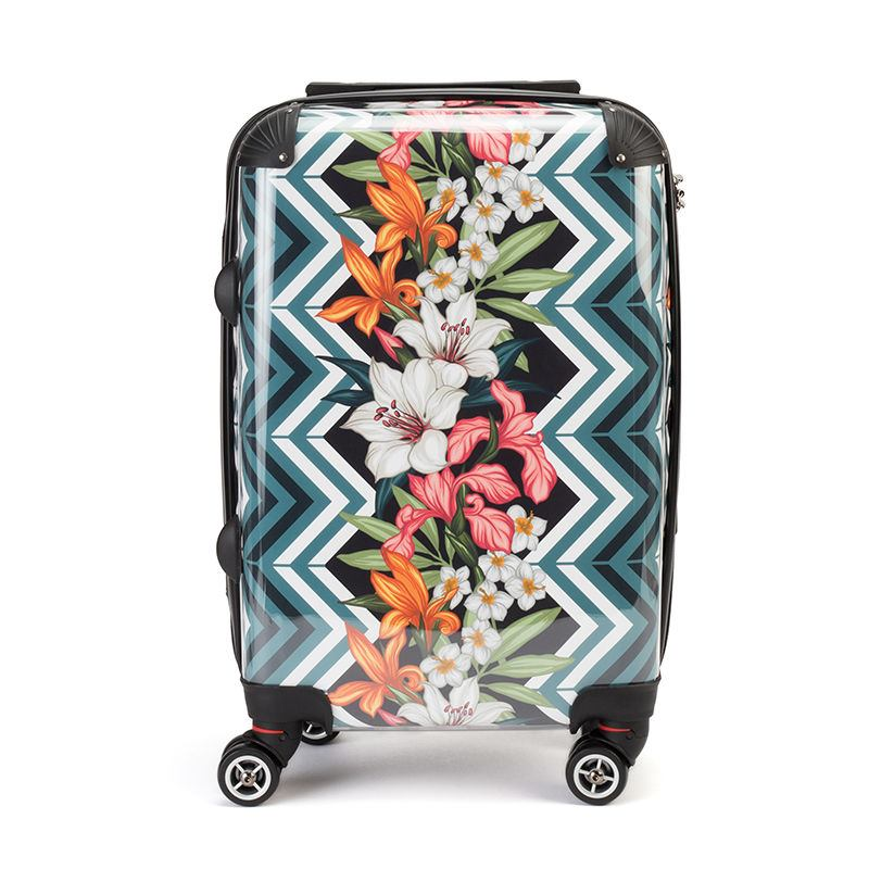 Pattern designed photo printed suitcase