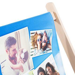 sdraio in legno personalizzata con foto