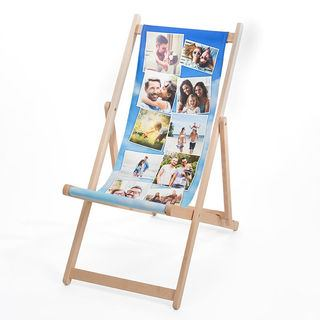 Printed Deck chair with Montage photos
