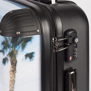Côté de la valise imprimée