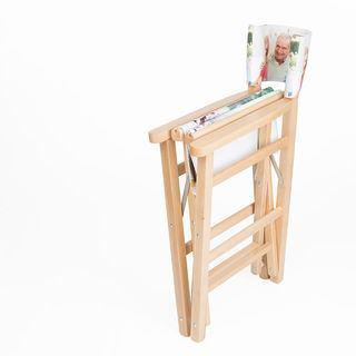stampa foto su sedia da regista personalizza