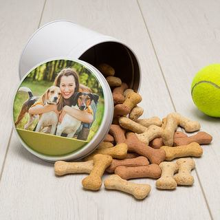 Dog photo printed UK tin Snacks
